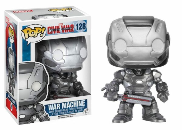 Captain America Civil War POP! Vinyl Bobble-Head War Machine 10 cm ( Funko )