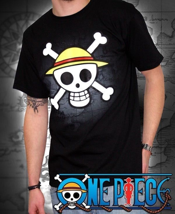 One Piece TShirt Maglietta Teschio Nero Black Skull uomo S ( Abystyle )