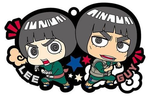 Naruto Rubber Charms 6 cm Lee & Guy ( Megahouse )