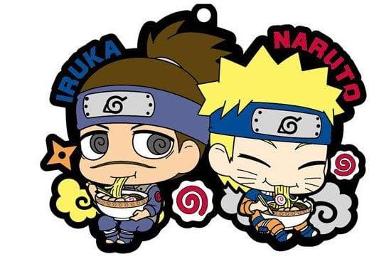 Naruto Rubber Charms 6 cm Iruka & Naruto ( Megahouse )