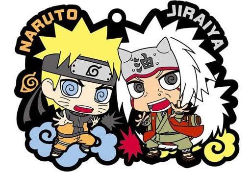 Naruto Rubber Charms 6 cm Naruto & Jiraiya ( Megahouse )