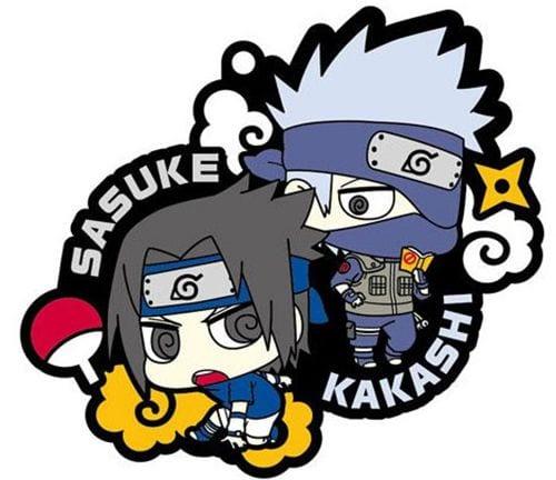 Naruto Rubber Charms 6 cm Sasuke & Kakashi ( Megahouse )
