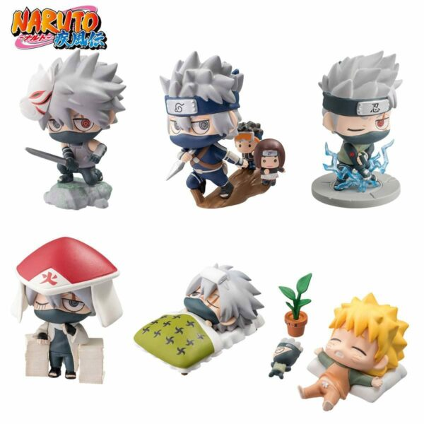 Naruto Shippuden Petit Chara Land Trading Figure 6-Pack Kakashi Special Set 5 cm ( Megahouse )