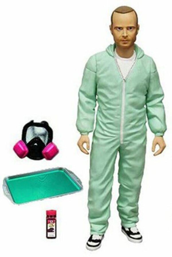 Breaking Bad Action Figure Jesse Pinkman In Blue Hazmat Suit Previews Exclusive 15 Cm ( Mezco Toys )
