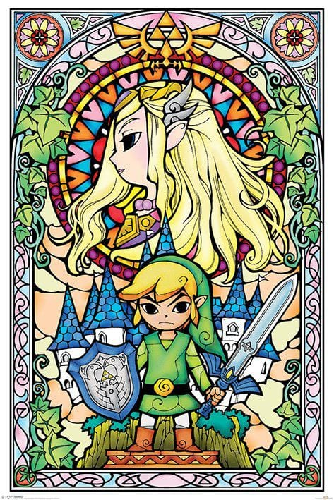 Legend of Zelda Poster Pack Stained Glass 61 x 91 cm ( Pyramid International )