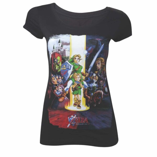The Legend of Zelda Ladies T-Shirt Ocarina of Time Flag Size M ( Bioworld Merchandising )