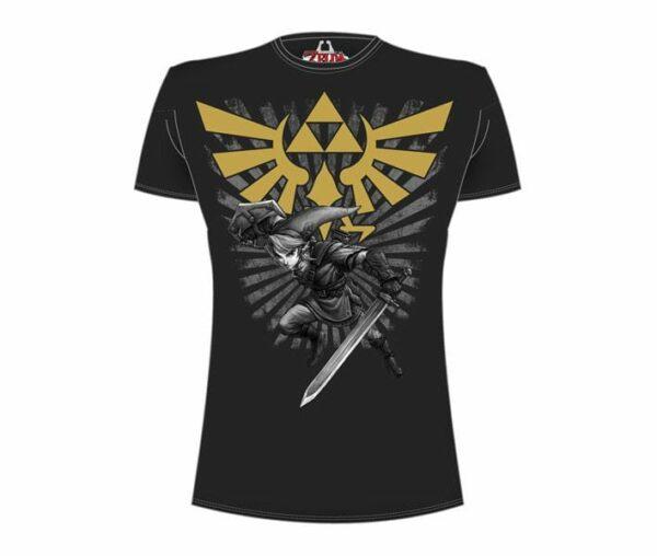 Legend of Zelda T-Shirt Zelda Warrior black Size XL ( Bioworld Merchandising )