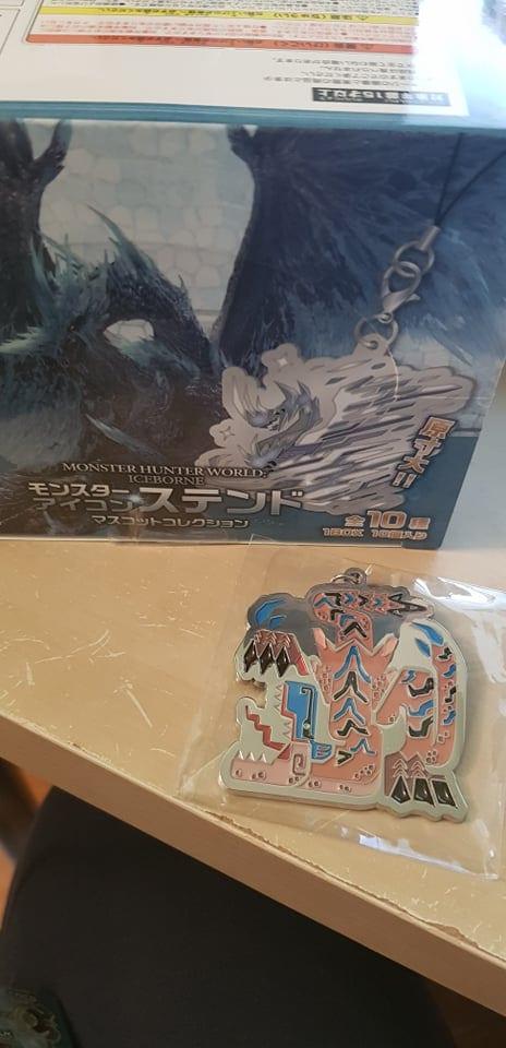 Monster Hunter World Iceborne  Icon Stained Glass Portachiavi in Metallo Tigrex ( Capcom )