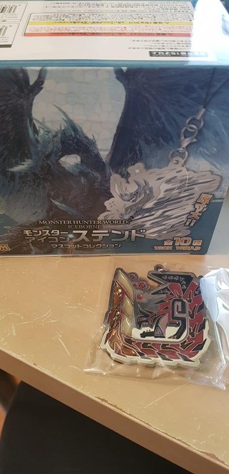 Monster Hunter World Iceborne  Icon Stained Glass Portachiavi in Metallo Glavenus ( Capcom )