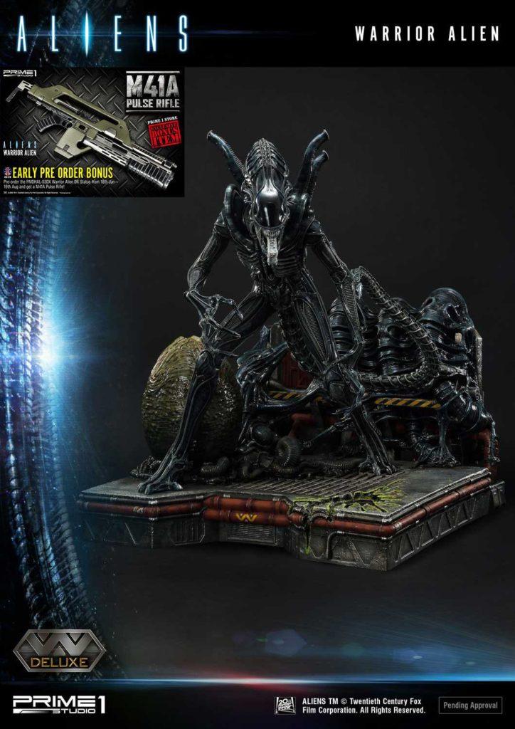Aliens Premium Masterline Series Statue Warrior Alien Deluxe Bonus Version 67 cm