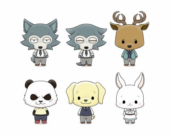 Beastars Chokorin Mascot Series Trading Figure 5 cm Assortment (6) ( Megahouse )