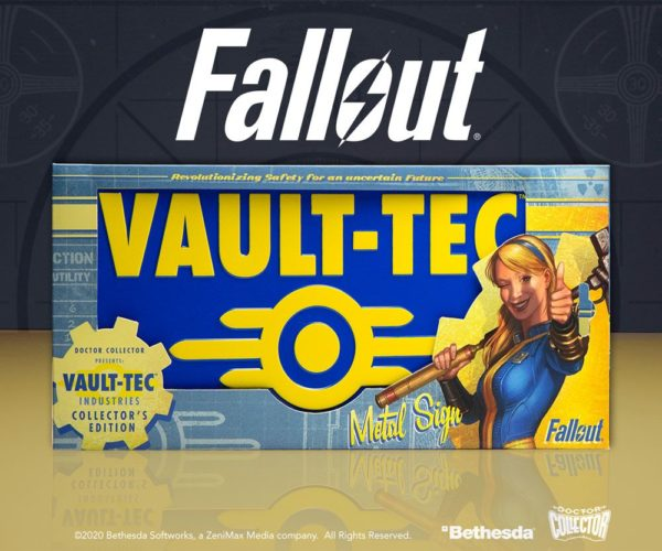Fallout Metal Sign Vaul-Tec ( Doctor Collector )