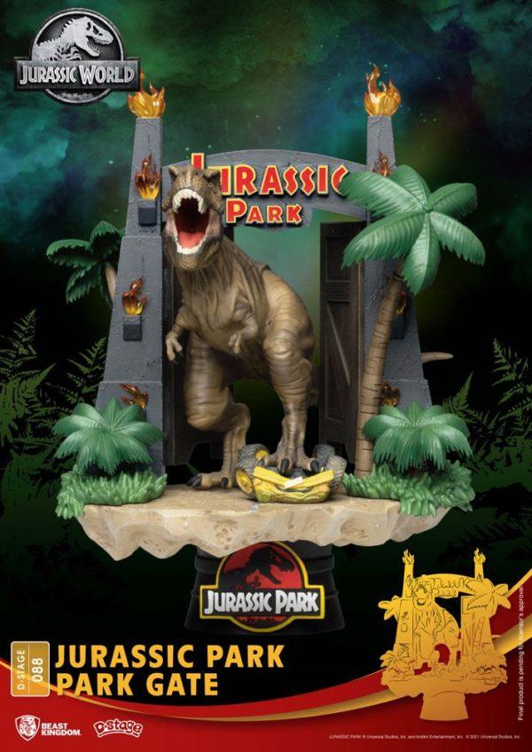 Jurassic Park D-Stage PVC Diorama Park Gate 15 cm-Beast Kingdom Toys-Jurassic Park