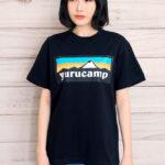 Yurucamp-Mount-Fuji-Logo-T-Shirt-L-Size-Black-2