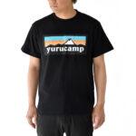 Yurucamp-Mount-Fuji-Logo-T-Shirt-L-Size-Black-3