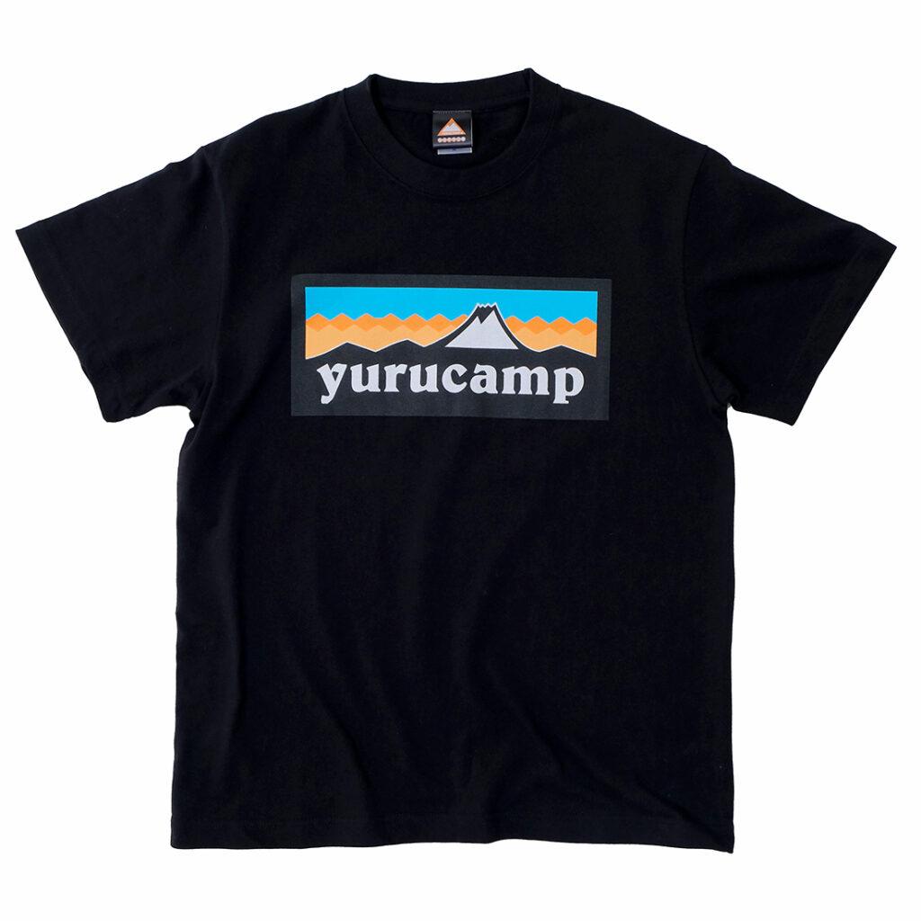 """Yurucamp"" Mount Fuji Logo T-Shirt (M Size) Black"